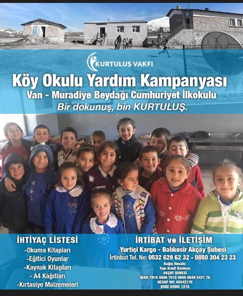 Centro Narconon Turchia, Kurtulus Vakfi, aiutare una scuola